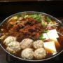 肝つくねと肝そぼろの台湾鍋