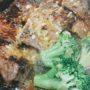 鉄板牛レバーガーリックステーキ